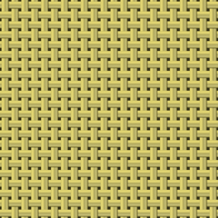 ribbed: Seamless background  weaving ribbed metal wire. The color of gold. Vector EPS10.