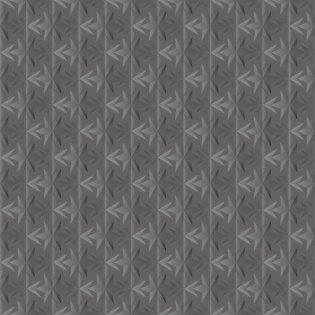 integral: Seamless texture of dark grey. 3D effect. Six-pointed star.  Vector  EPS8.