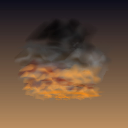 additional training: Design element - isolated cloud in the sunset.  Illustration