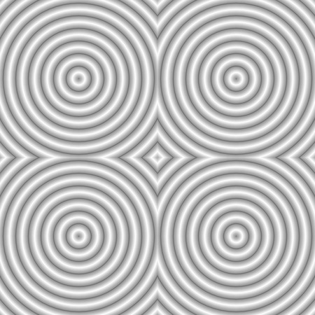 Seamless abstract striped background - embossed surface, circle. Color white. 3D effect. Vector illustration EPS8.