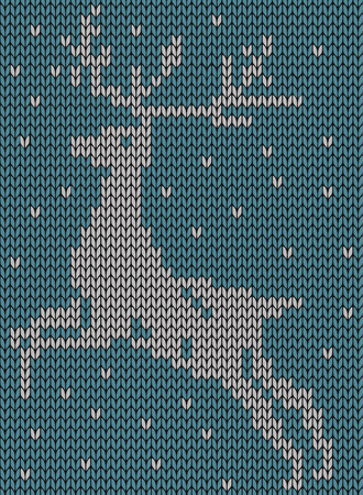 jacquard: Seamless knitted background - deer. Jacquard pattern. EPS 8 vector illustration. Illustration
