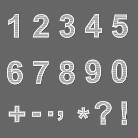 ceramics: Design elements - ceramics 3D font, numbers and symbols. Set. Transparent mesh top. Vector illustration EPS10.