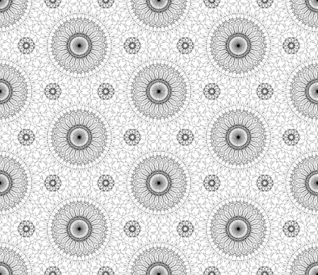 fine lines: Complicated vector seamless black and white background, texture. Ornament of fine lines.  Endless texture can be used for wallpaper, pattern fills, web page background,surface textures.