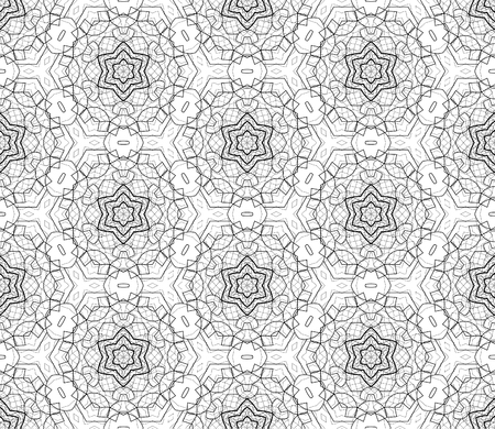complicated: Complicated vector seamless black and white background, texture. Ornament of fine lines.  Endless texture can be used for wallpaper, pattern fills, web page background,surface textures.