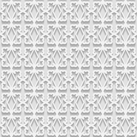 east indian: Seamless white 3D pattern,  east ornament, indian ornament. Endless texture can be used for wallpaper, pattern fills, web page  background,surface textures. Illustration