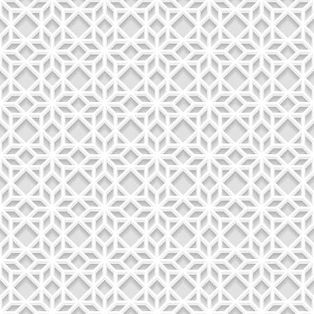 east indian: Seamless white 3D pattern,  east ornament, indian ornament, vector EPS 10. Endless texture can be used for wallpaper, pattern fills, web page  background,surface textures.