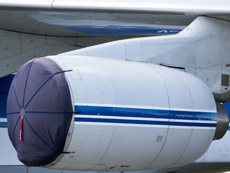 aluminum airplane: Details of the cargo and civilian aircraft. Best transport aircraft in the world.  Turbojet aircraft.
