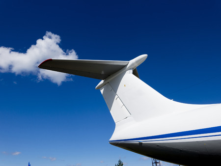 private parts: Details of the cargo and civilian aircraft. Best transport aircraft in the world. The nose of the aircraft. Stock Photo