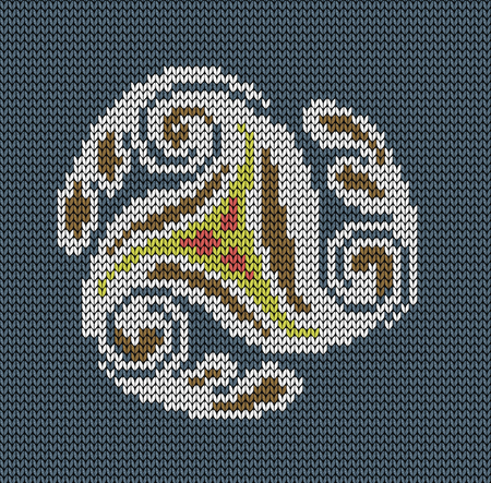 jacquard: Seamless knitted background - abstraction wind. Jacquard pattern. Vector illustration.