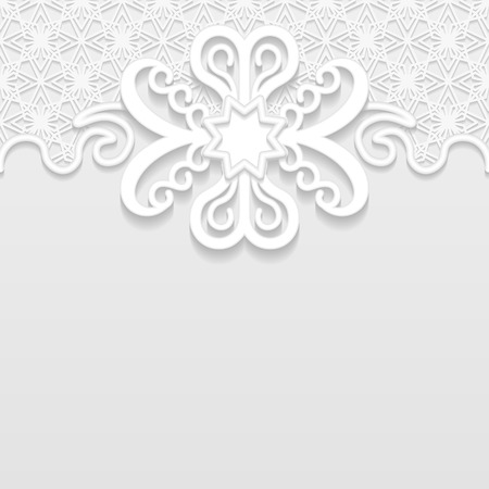 embossing: Vintage vector background, festive pattern embossing,  area division for writing the text, 3D, EPS10 Illustration