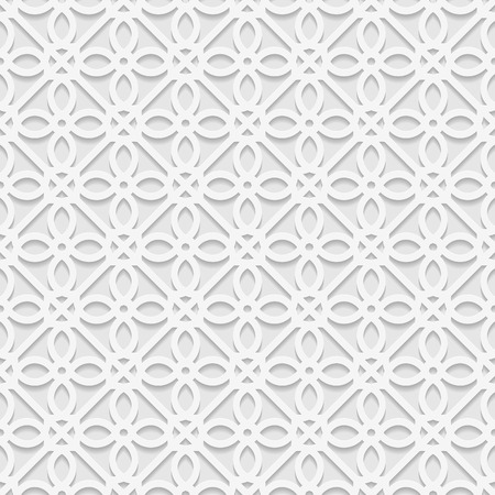 east indian: Seamless white 3D pattern, arabic motif,  east ornament, indian ornament, vector EPS 10. Endless texture can be used for wallpaper, pattern fills, web page  background,surface textures.