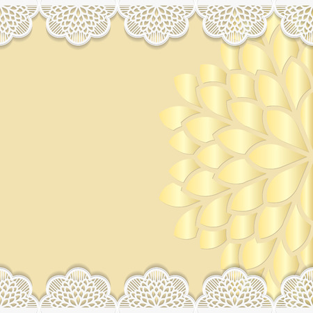 embossing: Vintage background, festive pattern embossing,  alace paper card, floral ornament, indian ornament, template greetings, 3D Illustration