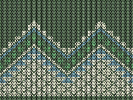 jacquard: Seamless knit background, symmetrical geometric pattern, jacquard pattern Illustration