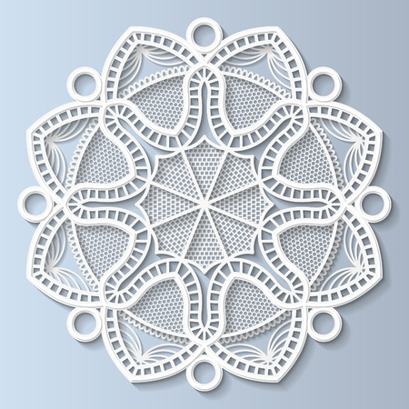 bas relief: Decorative flower, mandala, embossed pattern, lace pattern, arabic ornament,indian ornament, 3D Illustration