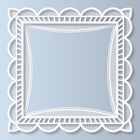 festive pattern: 3D lace frame, festive pattern, white pattern, template greetings
