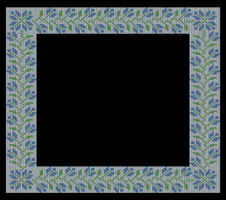 jacquard: Knitting Vintage frame, floral pattern, pattern, greeting, jacquard pattern, fabric border, illustrations