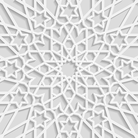 east indian: Seamless arabic geometric  pattern, east ornament, indian ornament, persian motif, 3D. Endless texture can be used for wallpaper, pattern fills, web page  background,surface textures. Illustration