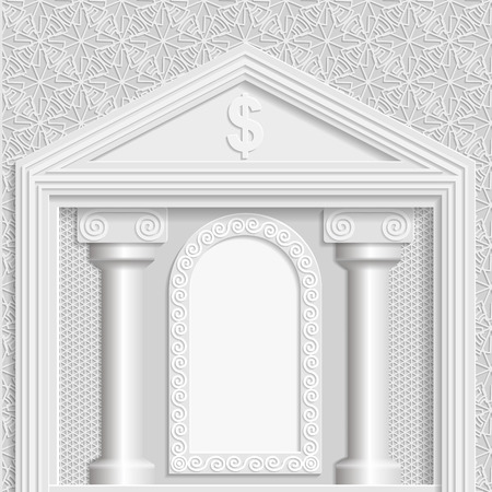 bas relief: Business background, business greetings, background building,  stock exchange template, 3D