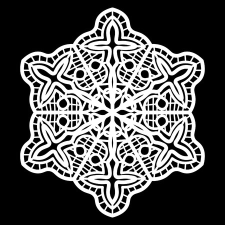 doily: Lace round paper doily, doily to decorate the cake, doily under the plates, festive doily,  white doily, lacy snowflake, greeting element package, illustrations