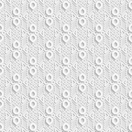 used ornament: Seamless white 3D pattern,  east ornament, indian ornament. Endless texture can be used for wallpaper, pattern fills, web page  background,surface textures. Illustration
