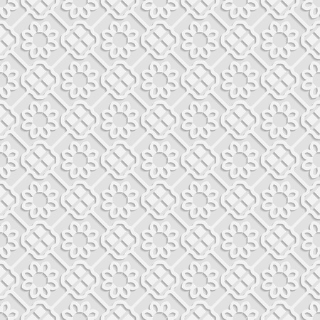 east indian: Seamless white 3D pattern, arabic motif,  east ornament, indian ornament, vector. Endless texture can be used for wallpaper, pattern fills, web page  background,surface textures. Illustration