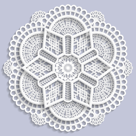 paper punch: Lace mandala, decorative flower,  3D mandala, lace doily, decorative mandala,  decorative  snowflake, lacy mandala, lace pattern, arabic ornament, indian ornament, embossed pattern, vector