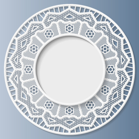 festive pattern: 3D bas-relief frame, vignette with ornaments, lace frame,   festive pattern, white pattern, template greetings