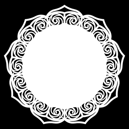 plotter: Lace round paper doily, lacy snowflake, greeting element,  template for cutting  plotter, round pattern, laser cut  template, doily to decorate the cake,  illustrations.