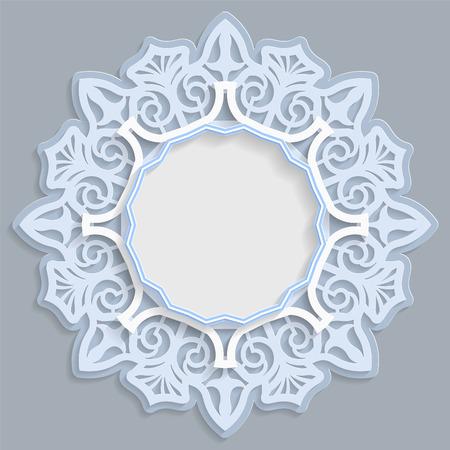 3D Runden Rahmen Für Ein Foto Oder Bild, Vignette Mit Ornamenten ...