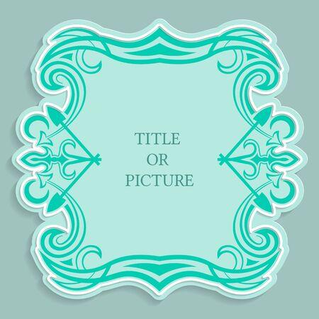 ベクトル ラベル、碑文、カリグラフィの飾り紙、3 D 効果を削減するテンプレートのビンテージ フレーム。 写真素材 - 78844078