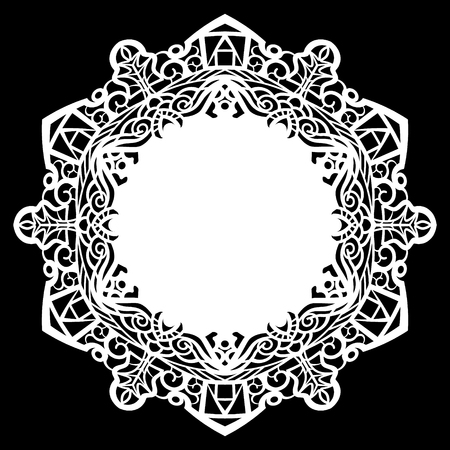 Lace round paper doily Illustration