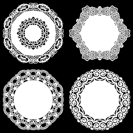 Set of lace design