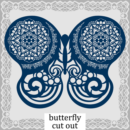 Butterfly - a template for laser cutting.