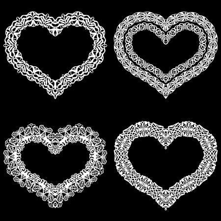 the appearance: Laser  heart cut frame.