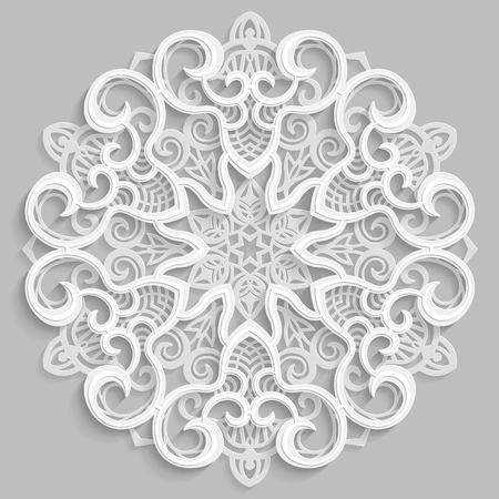 3D mandala lace. Illustration