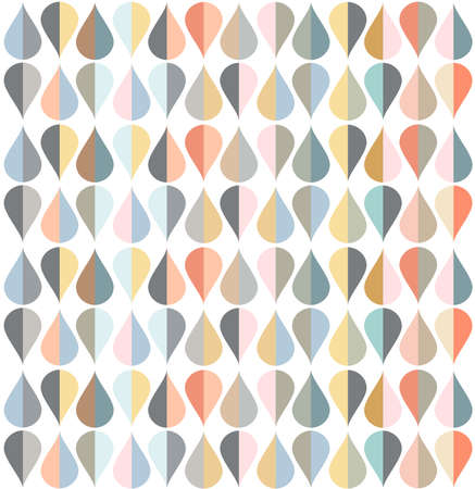 wall decor: Illustration of tear drop shapes in various color tones.