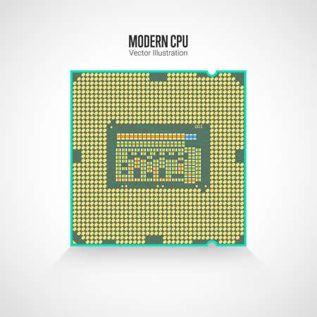Modern processor illustration.