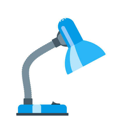Office desk lamp. Flat design Vector illustration