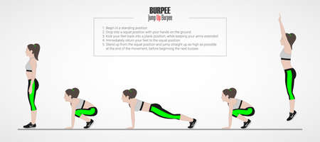 Woman doing sport exercise. Vectores