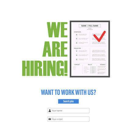 resume of the candidate for the position tagline we are hiring