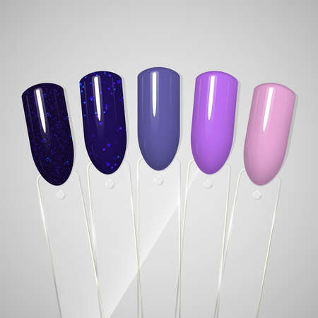 Nail polish. Gel polish. Tips Vector illustration 向量圖像