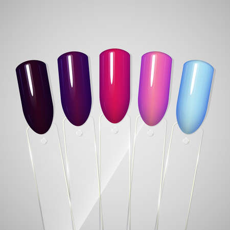 Nail polish. Gel polish. Tips Vector illustration Illustration