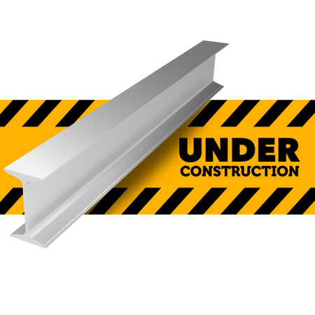 Under construction sign. Illustration