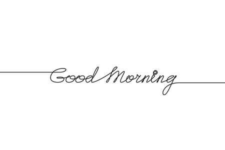 GOOD MORNING handwritten calligraphy.