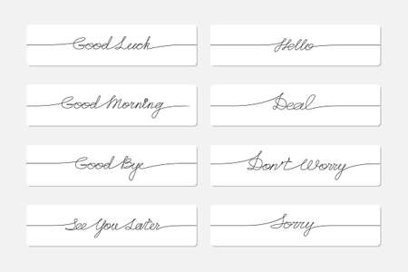 Set of handwritten inscriptions