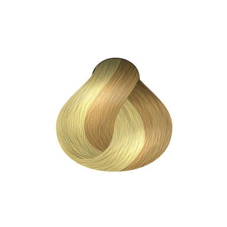 Lock of hair isolated on white background. A sample of hair dye. Vector illustration. Stock Illustratie