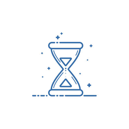 Hourglass icon. Vector illustration Flat linear design