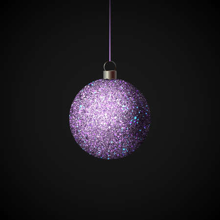 Shiny christmas ball. Realistic Christmas tree ball. Vector Ilustrace