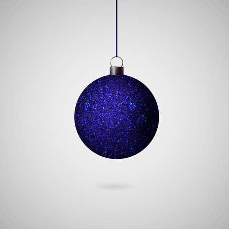 Shiny christmas ball. Realistic Christmas tree ball. Vector Ilustracja