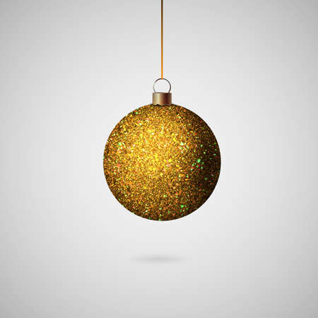 Shiny christmas ball. Realistic Christmas tree ball. Vector Zdjęcie Seryjne - 127646604